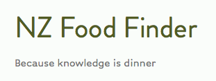 Share your local food knowledge…